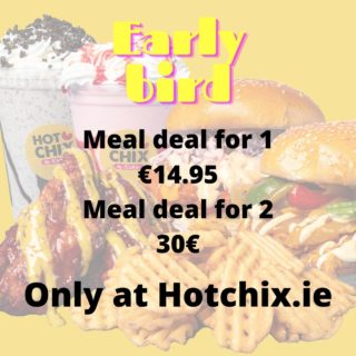 Ok so we can all agree that whole bleedin fitness buzz is out the window with the gyms being closed. Don't kid yourself, order hotchix for that hangover there. Even better, order through hotchix.ie for exclusive deals until 7pm! #YourBreastFriend