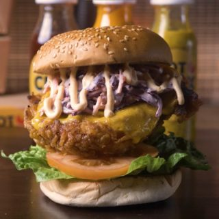 The Simple bird This classic has all the essentials: Cheese, lettuce, tomato, Homemade slaw & a drizzle of our chipotle mayo😛 Order at Hotchix.ie #YourBreastFriend